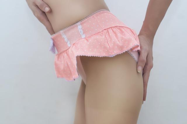 růžové kalhotky